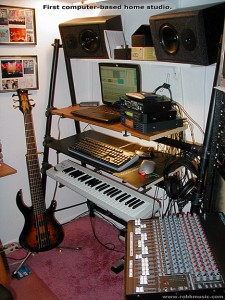 My first computer-based home recording studio. October 2001.